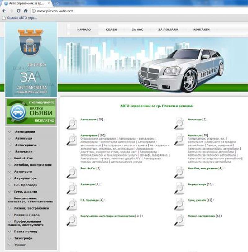 pleven-avto.net, ruse-avto.net и tarnovo-avto.net